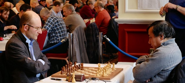 GM Matthew Sadler faces GM Mark Hebden